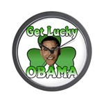 Get Lucky Obama Wall Clock