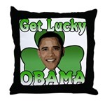 Get Lucky Obama Throw Pillow
