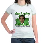 Get Lucky Obama Jr. Ringer T-Shirt