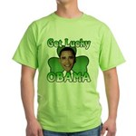 Get Lucky Obama Green T-Shirt