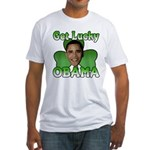 Get Lucky Obama Fitted T-Shirt