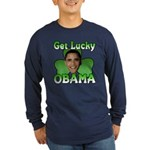 Get Lucky Obama Long Sleeve Dark T-Shirt