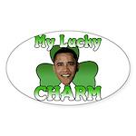 Obama My Lucky Charm Oval Sticker