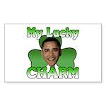 Obama My Lucky Charm Rectangle Sticker