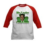 Obama My Lucky Charm Kids Baseball Jersey