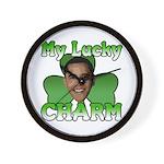 Obama My Lucky Charm Wall Clock