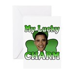 Obama My Lucky Charm Greeting Card