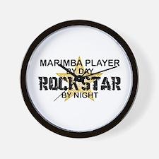 Marimba Player Rock Star Wall Clock