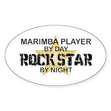 Marimba Player Rock Star Oval Decal