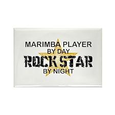 Marimba Player Rock Star Rectangle Magnet