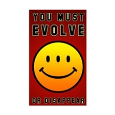 <b>YOU MUST EVOLVE...</b><br>Rectangular Decal