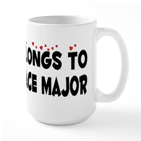 Belongs To An Aerospace Major Large Mug