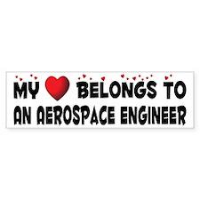 Belongs To An Aerospace Engineer Bumper Bumper Sticker