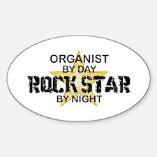 Organist Rock Star Oval Decal