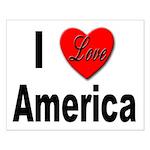 I Love America Small Poster