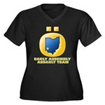 Ohio Assault Team Women's Plus Size V-Neck Dark T-