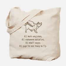 Pigs Ready to Fly Tote Bag