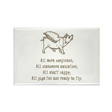 Pigs Ready to Fly Rectangle Magnet