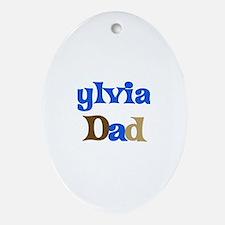 Sylvia's Dad Oval Ornament
