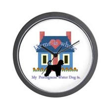 Portuguese Water Dog Wall Clock