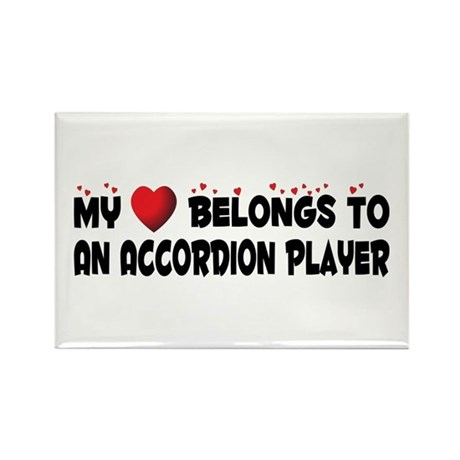 Belongs To An Accordion Player Rectangle Magnet