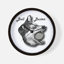 Ball Buster Freaky Dog Photo Wall Clock
