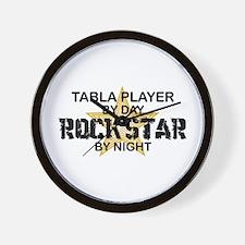 Tabla Player Rock Star Wall Clock