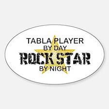 Tabla Player Rock Star Oval Stickers