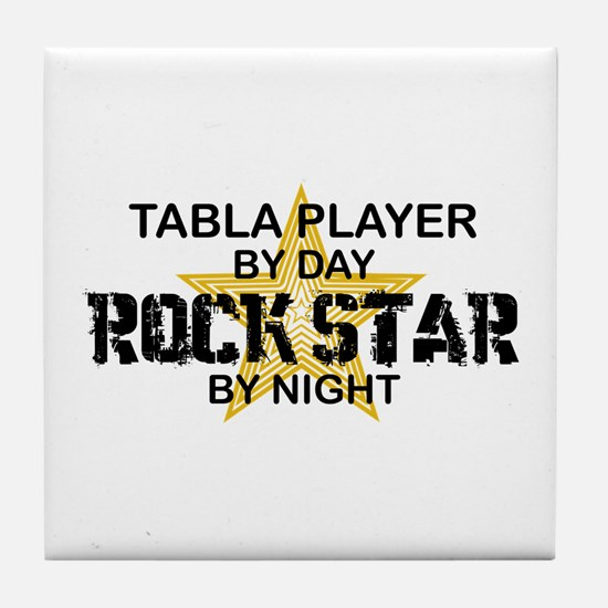 Tabla Player Rock Star Tile Coaster