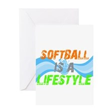 Softball is a lifestyle Greeting Card
