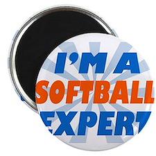 """im a softball expert 2.25"""" Magnet (10 pack)"""
