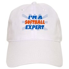 im a softball expert Baseball Cap
