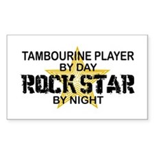 Tambourine Player Rock Star Rectangle Stickers