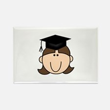 Graduate Girl Rectangle Magnet