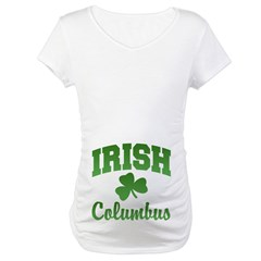 Columbus Irish Maternity T-Shirt