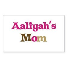 Aaliyah's Mom Rectangle Decal