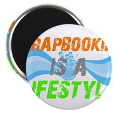 """Scrapbooking is a lifestyle 2.25"""" Magnet (10 pack)"""