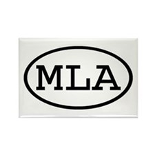 MLA Oval Rectangle Magnet (10 pack)