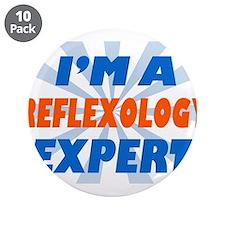 """Reflexology expert 3.5"""" Button (10 pack)"""