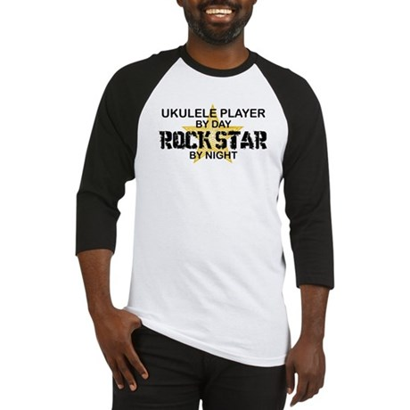Ukulele Player Rock Star Baseball Jersey