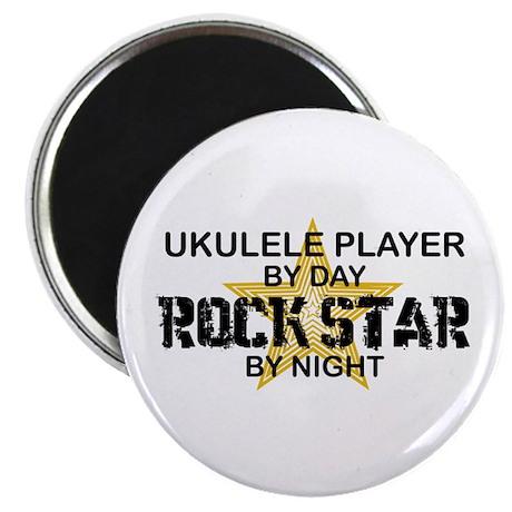 Ukulele Player Rock Star Magnet