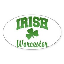 Worcester Irish Oval Decal