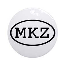 MKZ Oval Ornament (Round)