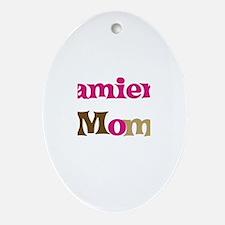 Damien's Mom Oval Ornament