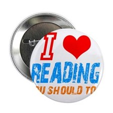 """I love Reading 2.25"""" Button (10 pack)"""