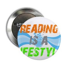 """Reading is a lifestyle 2.25"""" Button"""