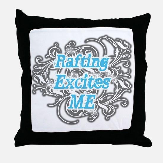 Rafting Excites me Throw Pillow