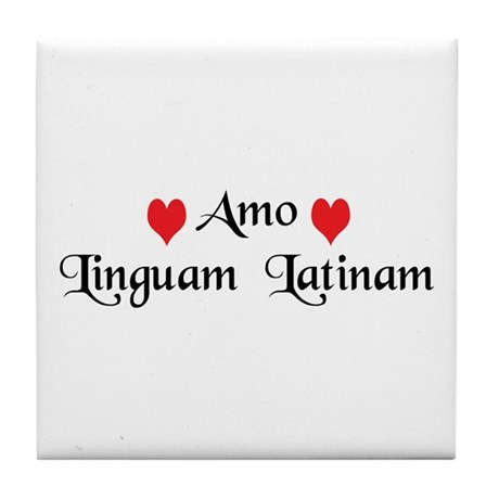 Amo Linguam Latinam Tile Coaster