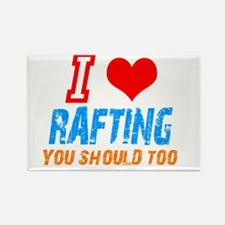 I love Rafting Rectangle Magnet
