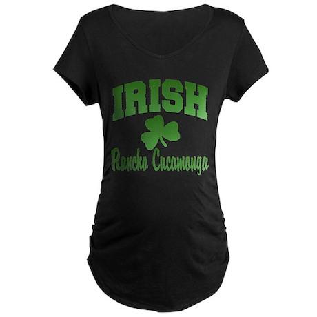 Rancho Cucamonga Irish Maternity Dark T-Shirt